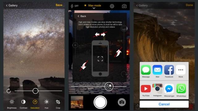 تطبيق WD21 على آيفون لتصوير صور ليلية بخاصية تايم لابس