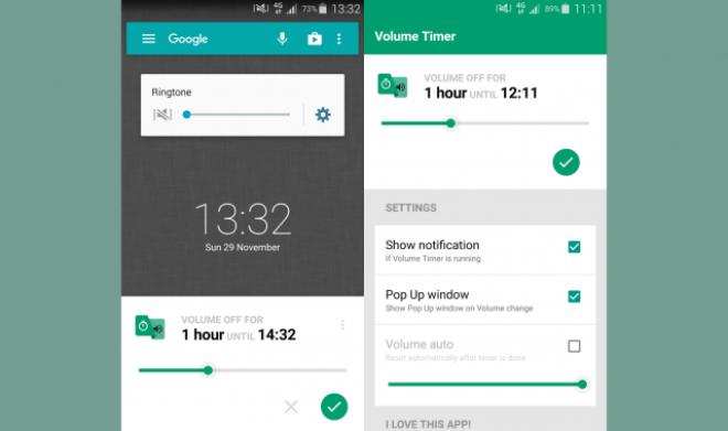 تطبيق Volume Timer للتحويل التلقائي بين الوضع الصامت والعام والعكس