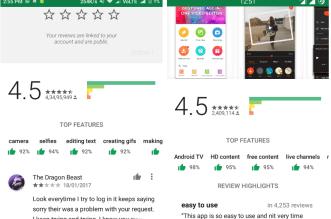 خيار أعلى الميزات من على متجر بلاي يظهر للمزيد من المستخدمين