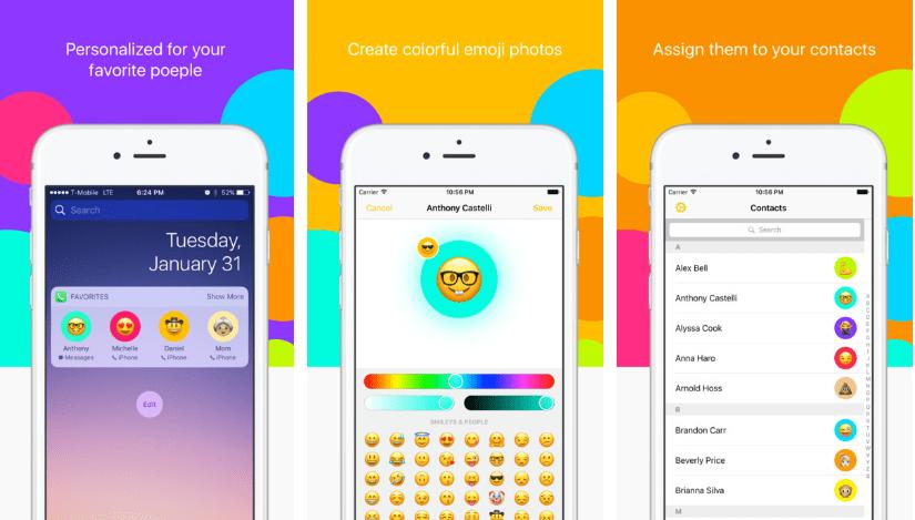 تطبيق Smirk لإستبدال صور جهات إتصالك برموز تعبيرية جميلة