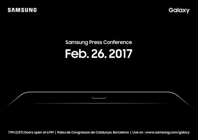Galaxy Tab S3 MWC Invitation