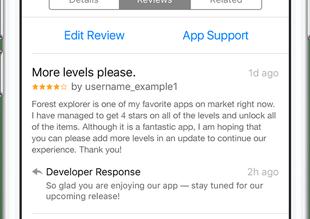 رد المطورين مراجعة تطبيقات