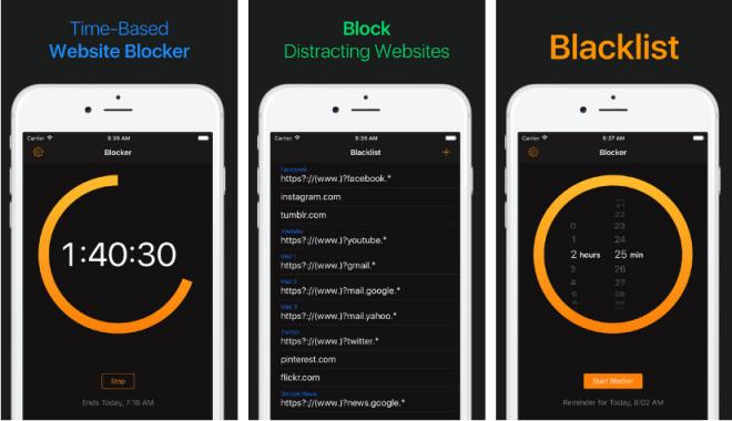 تطبيق Blacklist لإبقائك مُركزًا بمهامك عبر حظر مخصص لمواقع الويب