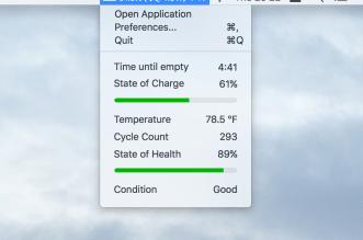تطبيق Coconut Battery لمراقبة مستوى وحالة البطارية على ماك