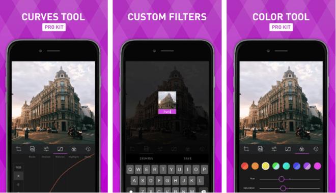 تطبيق Darkroom للتعديل على ألوان الصورة ومعالجتها ككل