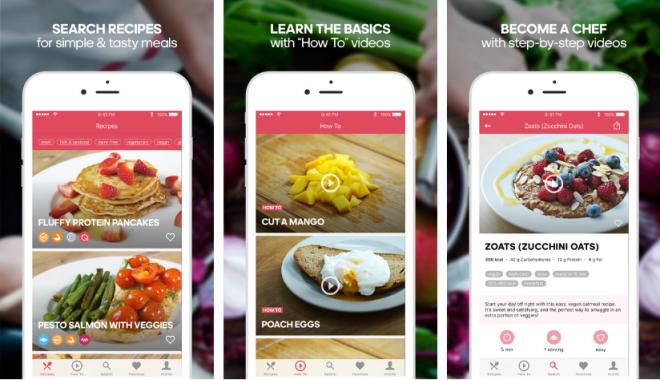 تطبيق Runtasty تمتع معه بوصفات طعام صحيّة