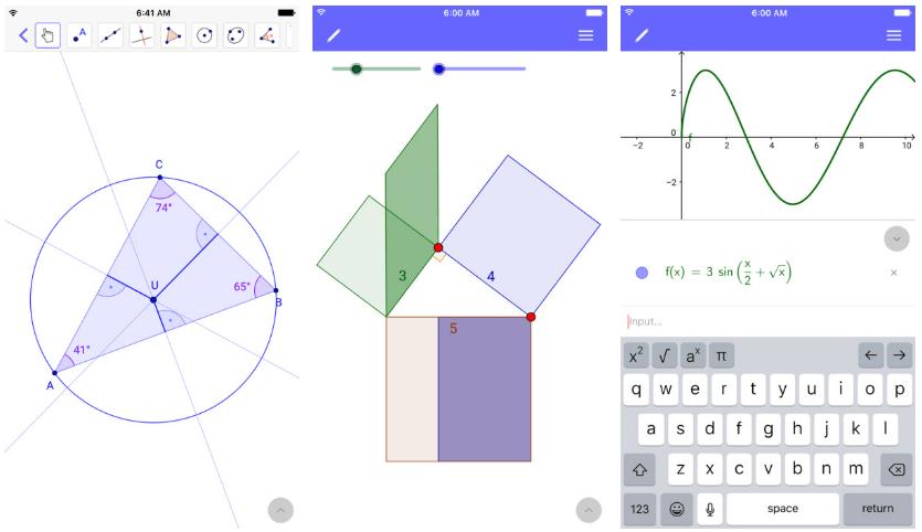 تطبيق Geometry Calculator لحساب ورسم أبعاد الأشكال الهندسية