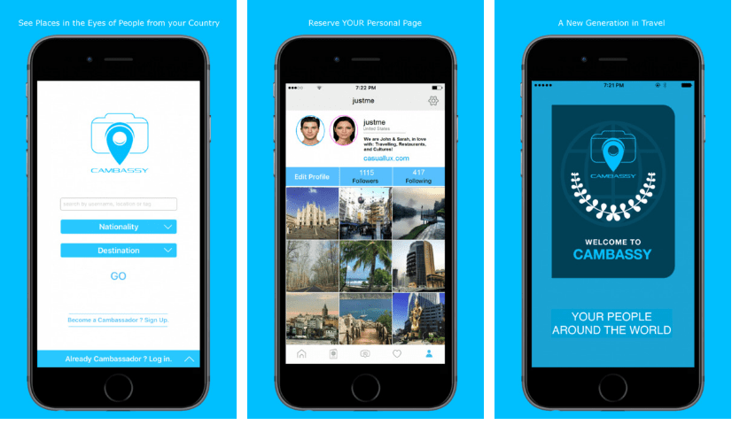 تطبيق كامباسي شبكة إجتماعية لإكتشاف العالم من حولك