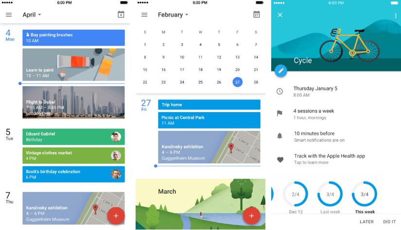 تقويم قوقل يدعم الآن الويدجت وخاصية 3D Touch على iOS