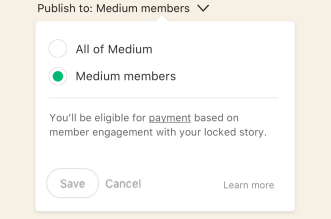 Medium is letting some users hide their posts behind a paywall