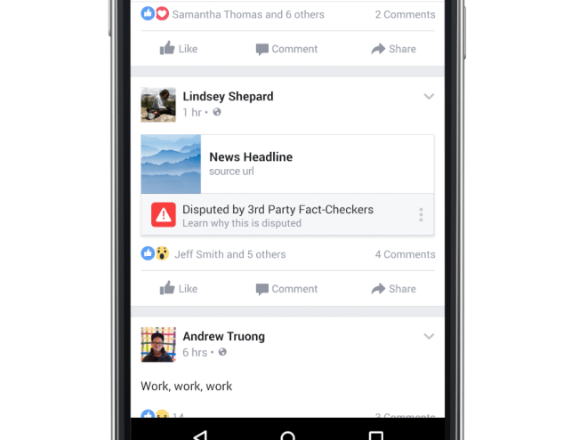 فيسبوك تمنع الأخبار الكاذبة