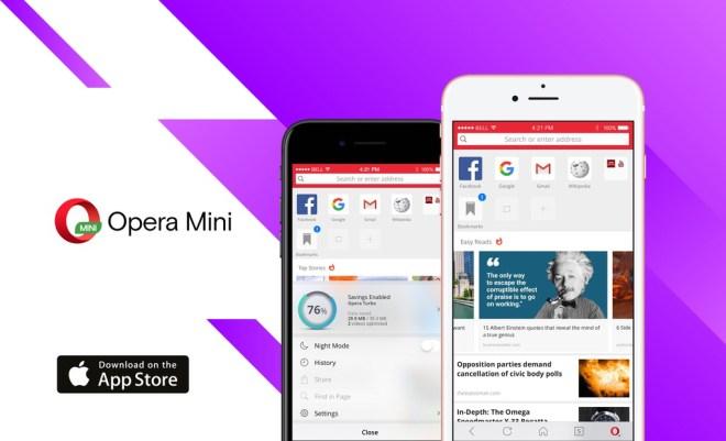 متصفّح أوبرا ميني على iOSيحصل على تجديد كامل
