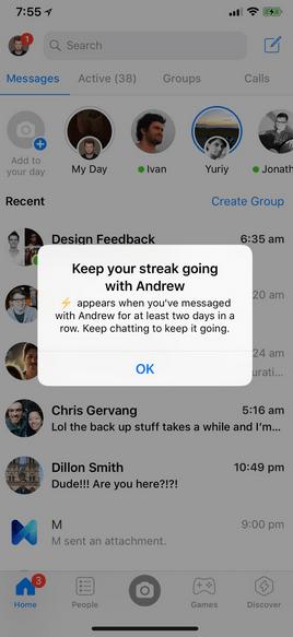 Messenger STREAK