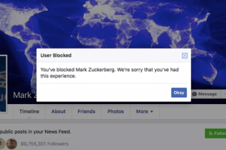 Facebook quietly fixed an error that prevented you from blocking Mark Zuckerberg