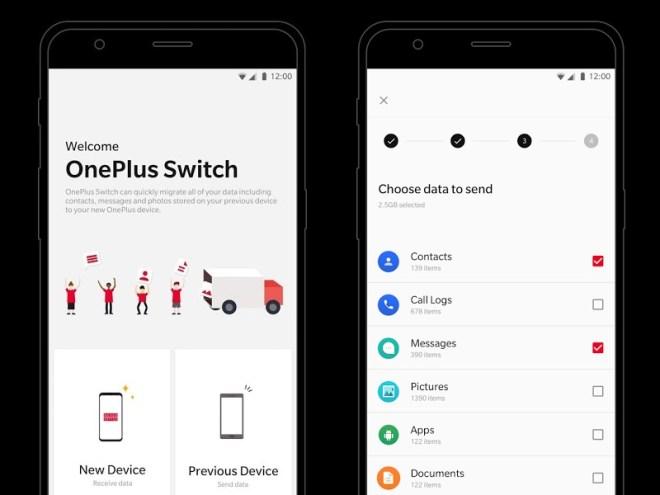 OnePlus تطرح تطبيقهاSwitch لترحيل بيانات أي هاتف إلى هاتف ون بلس جديد