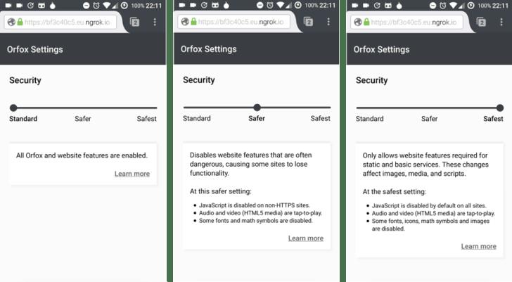 متصفحOrfox في أندرويد يأتي بالشريط الأمني لمتصفحTor