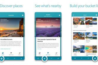 تطبيقOutings من مايكروسوفت لاكتشاف الأماكن عند السفر