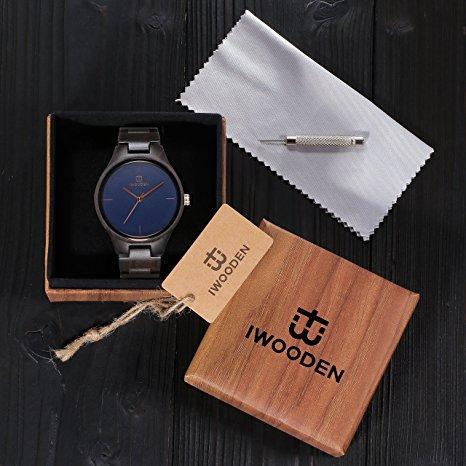 ساعة يد خشبية من IWOODEN