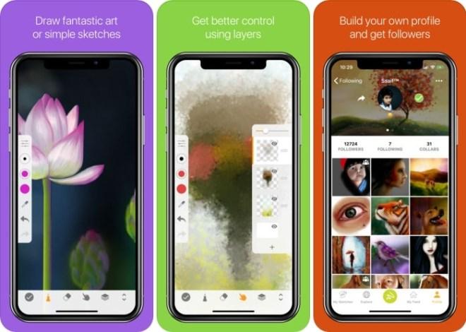 سوني تُقدّم تطبيق الرسمSketch لمستخدمي iOS