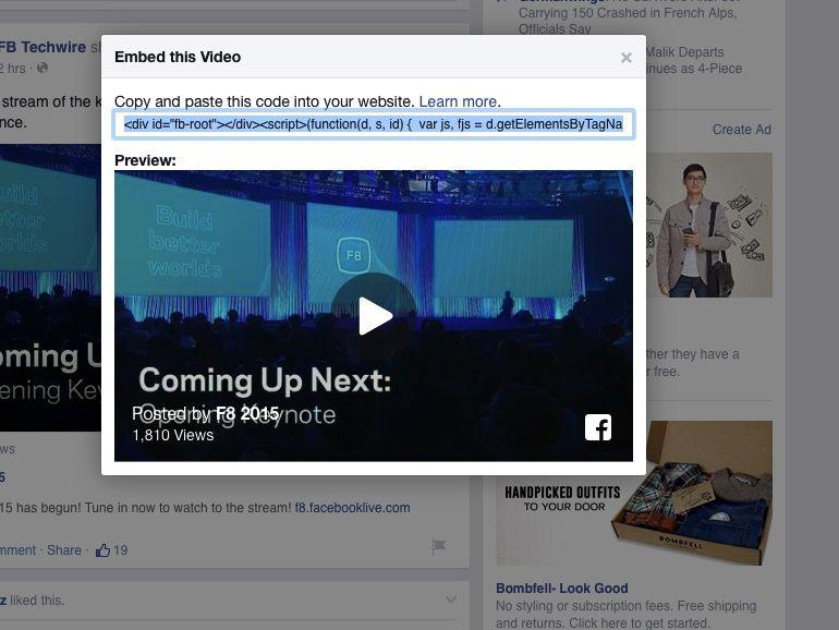 فيسبوك فيديو