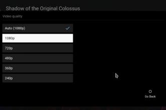 تطبيق يوتيوب على أندرويد TV يدعم الآن تحديد الجودة يدويًا