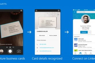 تطبيق الكاميرا Microsoft Pix يدعم حفظ بطاقة العمل لجهات الاتصال تلقائيًا
