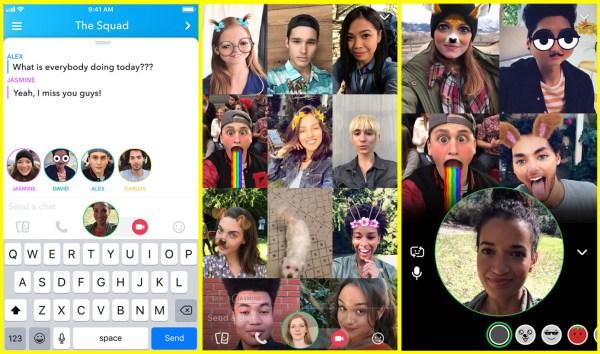 group video chat en hero shot - سناب شات تضيف ميزة مكالمات الفيديو الجماعية لتطبيقها