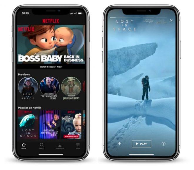 تطبيق Netflix على iOS يوفر معاينات للمحتوى بشكل أشبه بالقصص