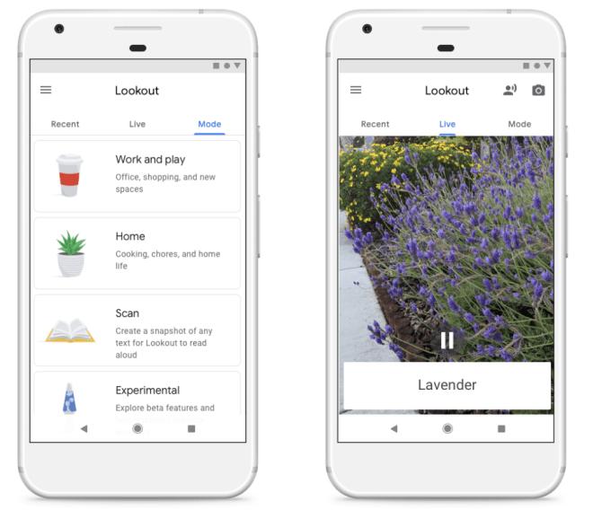 Lookout - جوجل تعمل عليتطبيقLookout لمساعدة المكفوفين في رؤية العالم من حولهم