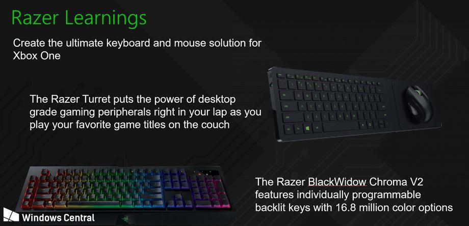 مايكروسوفت ورازر تعملان على تطوير فأرة ولوحة مفاتيح لدعم Xbox