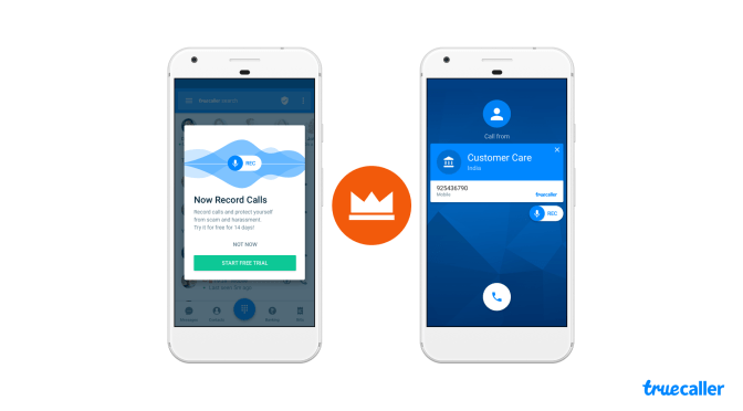 تطبيقTruecaller يدعم الآن ميزة تسجيل المكالمات