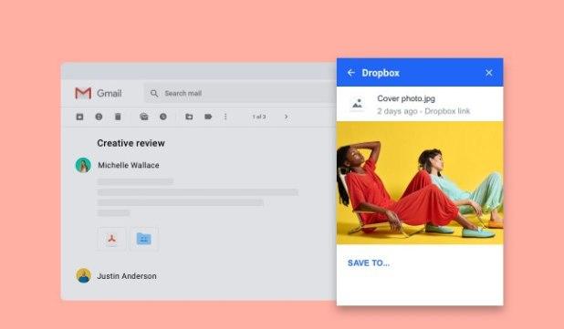 دروب بوكس تطرح إضافة خاصة لدمج الخدمة مع البريد الالكتروني Gmail
