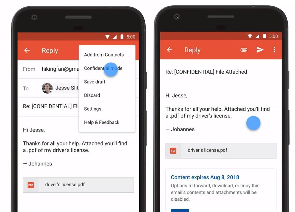"""تطبيقGmail على أندرويد يدعم الآن """"الوضع السري"""""""