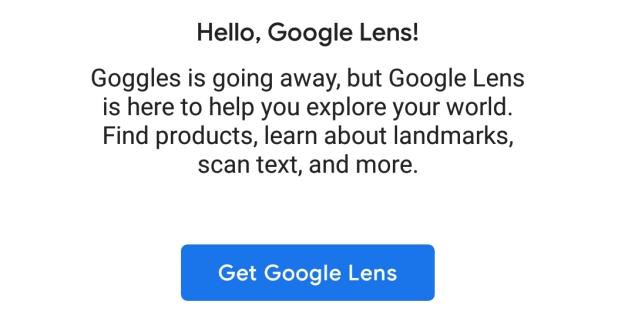 تظبيقGoogleLens يَحُلّ محل تطبيقGoogle Goggles