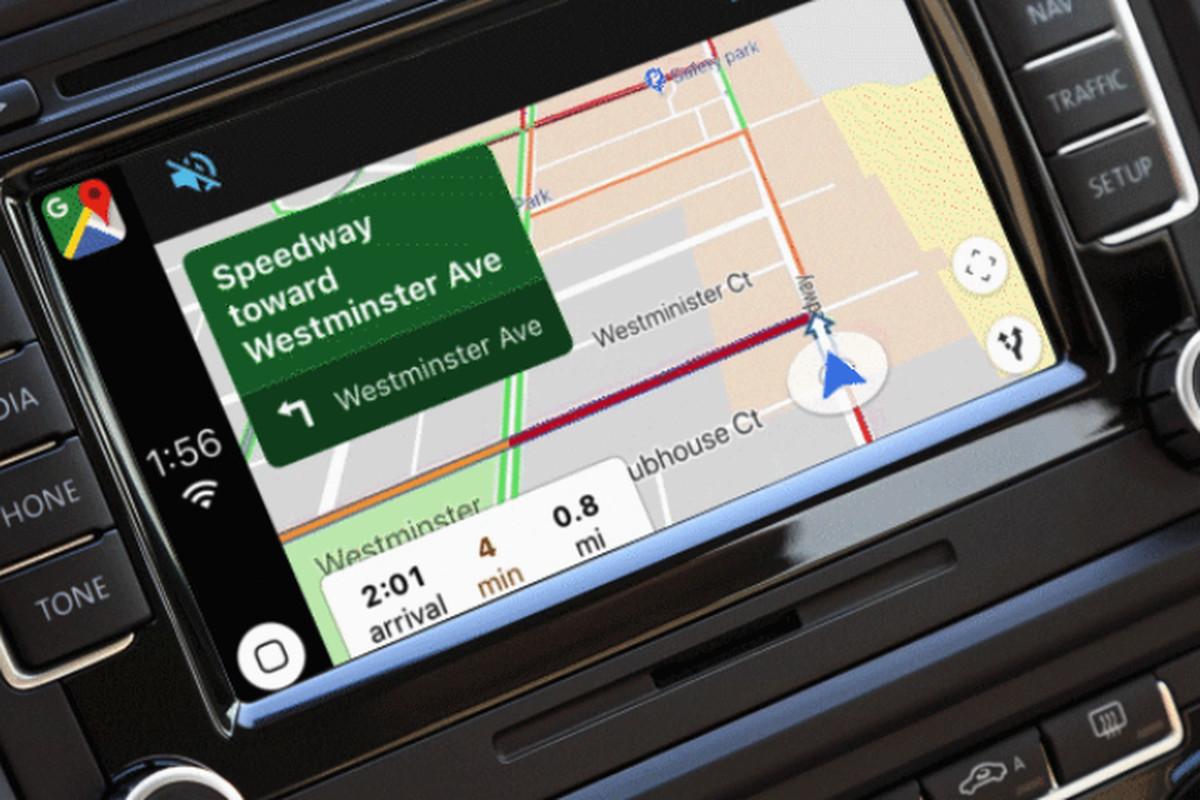خرائط قوقل أصبحت متوفرة على منصة CarPlay في iOS 12