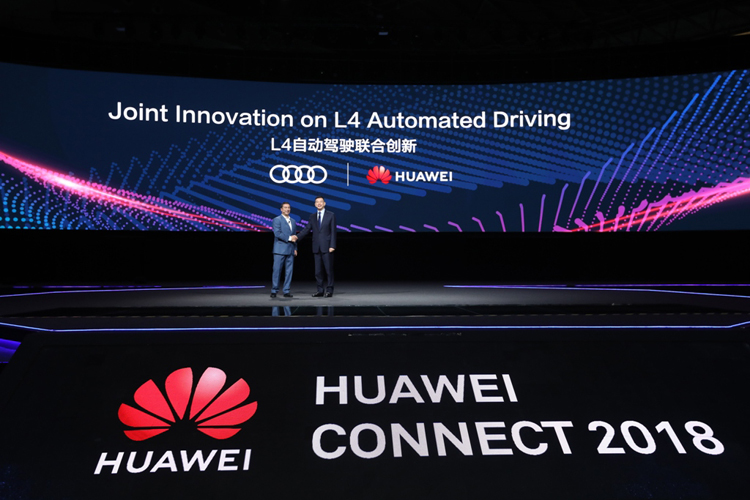 هواوي كونكت 2018: توقيع شراكة مع أودي لبدء دعم Audi Q7 لتطوير تقنيات القيادة الذاتية