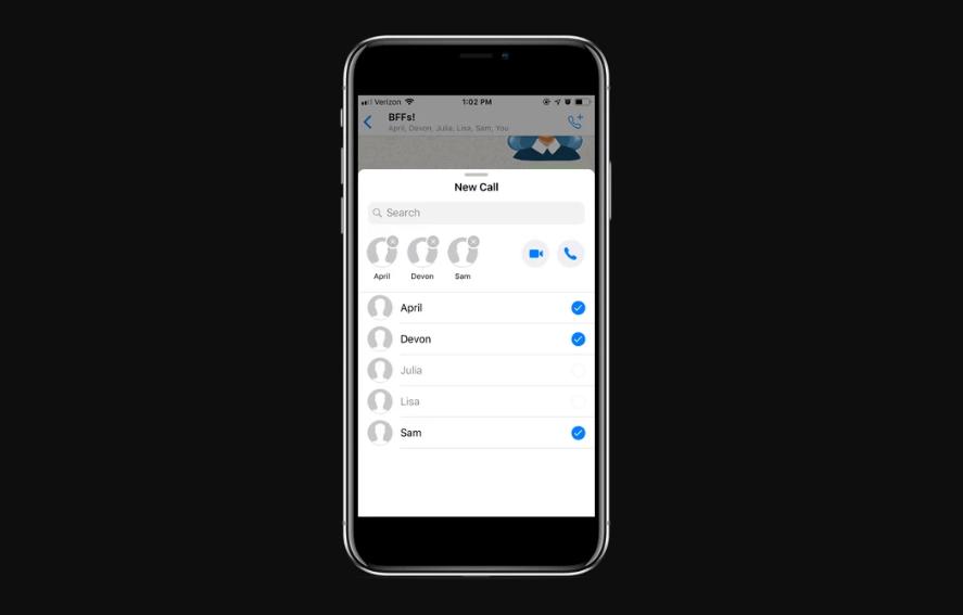 تحديث واتس آب على iOS يأتي بخيار البدء بمكالمة جماعية مباشرة