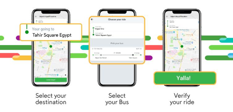كريم تطلق خدمة النقل العام بالحافلات في مصر