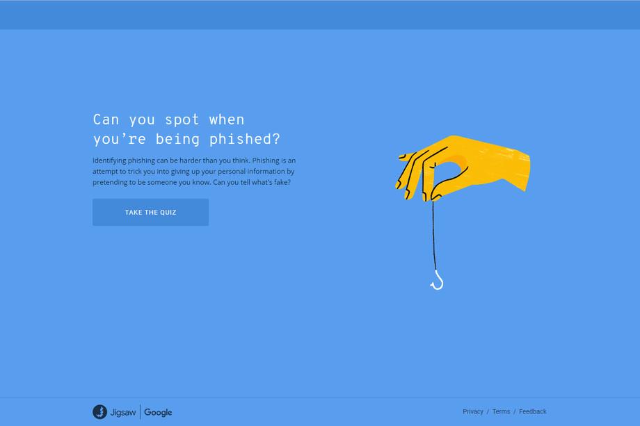 قوقل تطلق اختباراً لقياس قدرة المستخدمين في التعرف على الرسائل الالكترونية الاحتيالية