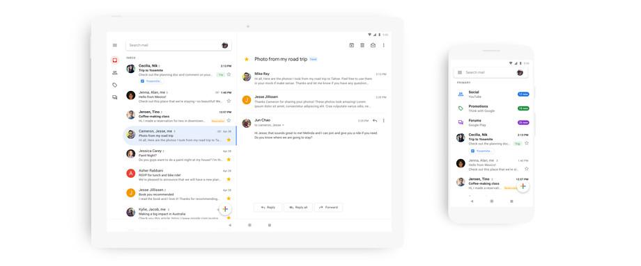 قوقل تطلق تطبيق الجميل لأندرويد و iOS بتصميم جديد وتحسينات نسخة الويب