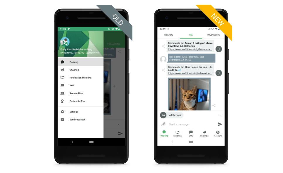 تحديث تطبيق Pushbullet يأتي بتصميم جديد مع دعم الوضع المظلم وأكثر