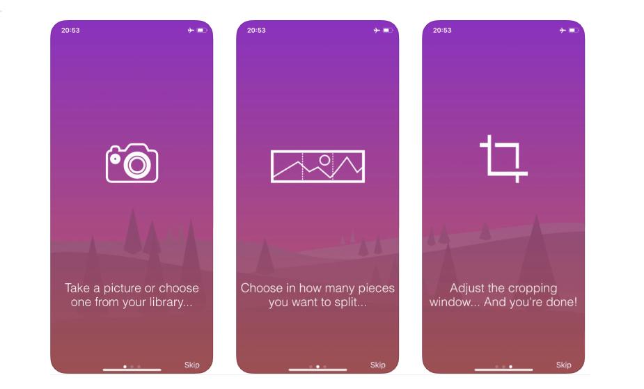 تطبيق Unsquared لنشر صورة بانورامية بالحجم الكامل على إنستقرام