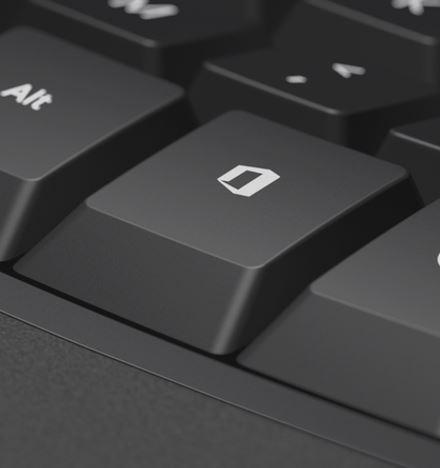 مايكروسوفت تفكر في دعم زر حقيقي خاص بأوفيس في لوحات المفاتيح