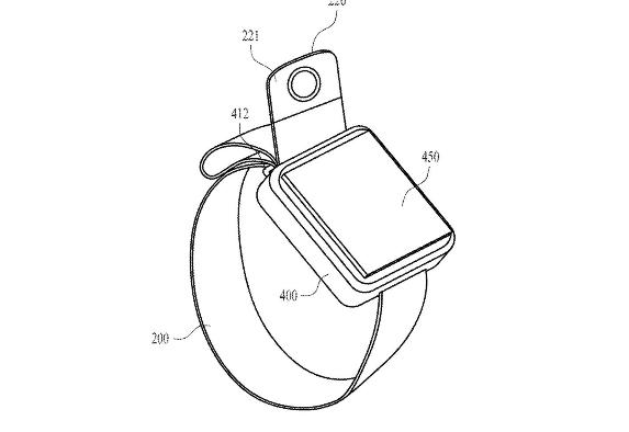 244dd29c5 أظهر مكتب الولايات المتحدة لبراءات الاختراع والعلامات التجارية تسجيل شركة  آبل لبراءة اختراع جديدة تلمح لإضافة الشركة كاميرا على حزام ساعتها الذكية،  بحيث ...