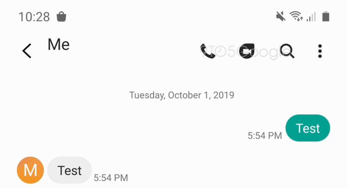 Samsung's messaging app may be integrated with Google's Duo app