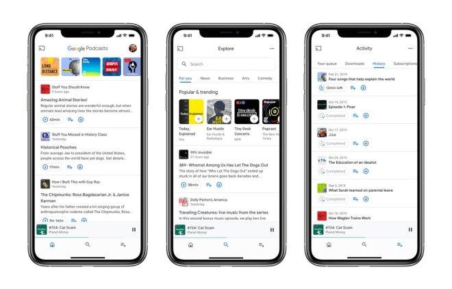 أخيرًا جوجل تُطلق تطبيقها البودكاست على نظام آبل iOS