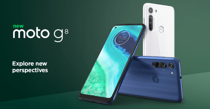 Motorola reveals the Moto G8 with a triple camera in the back
