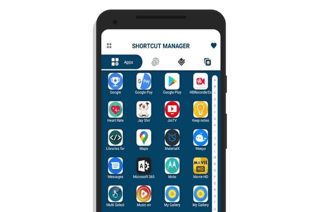 Shortcut Manager لإنشاء اختصارات للتطبيقات والأنشطة على شاشة أندرويد