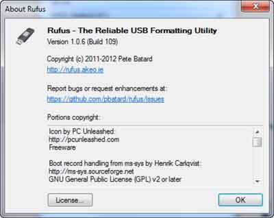 Create bootable USB Pendrive using Rufus