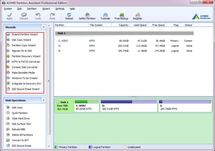 AOMEI Partition Assistant Features 1